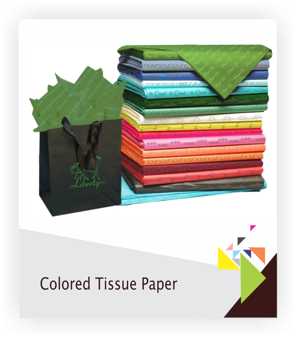 colored tissue paper 10 sheet pack colored tissue paper in poly bag with hang hole- #1 grade, 20 x 26- acid free- made in usa- price per pack see our large assortment of gift bags from.