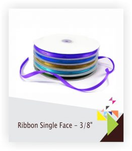 Ribbon Single Face - 3-8